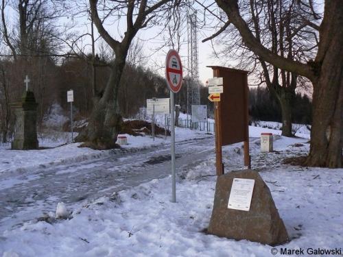 Kamieńczyk: przejście od strony czeskiej
